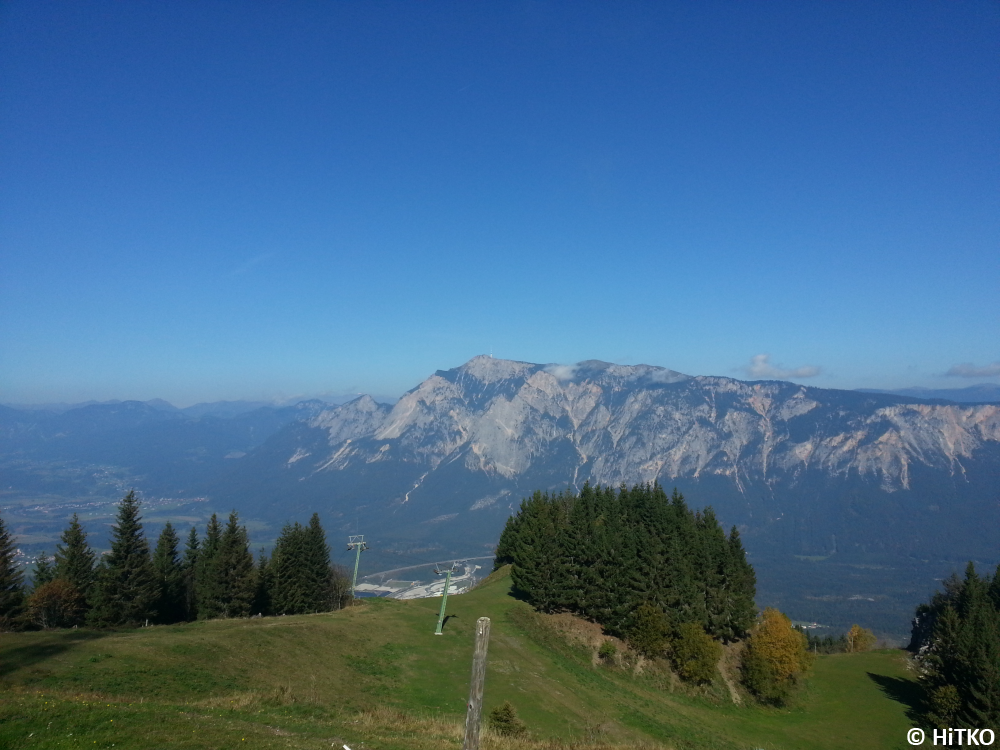 Mountains on the Austrian side
