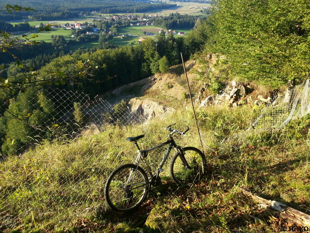 My bike at the top of the quarry