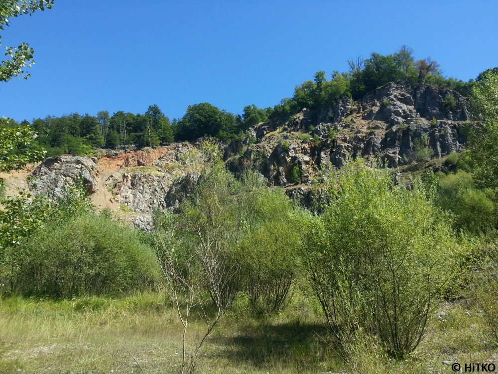 View from the entrance of Rašica quarry
