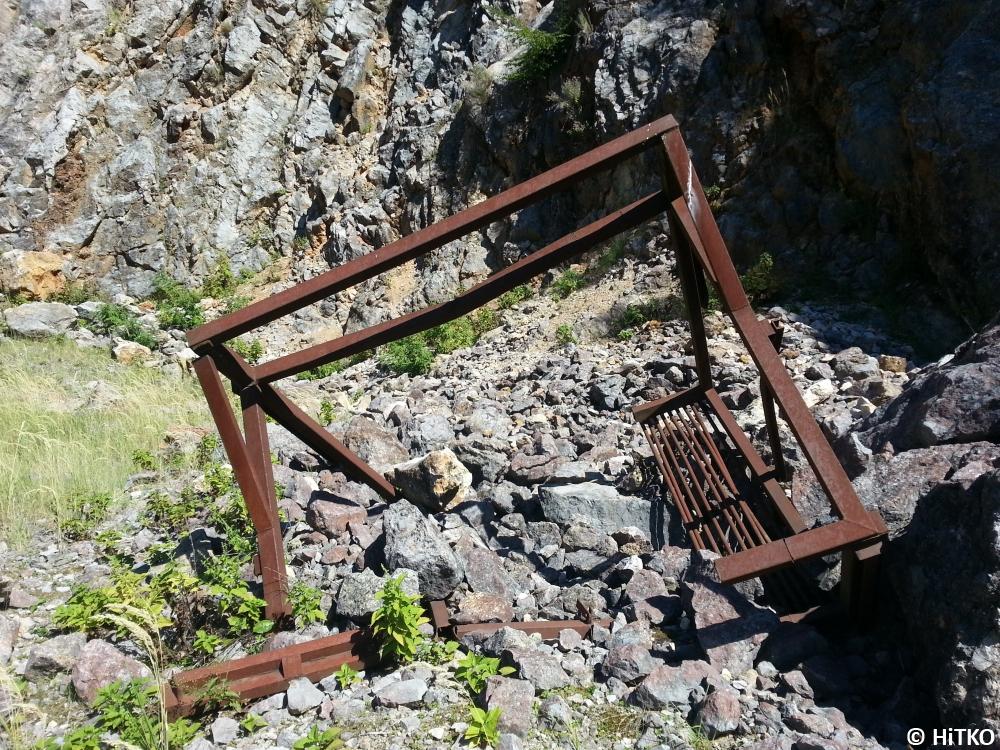 Rusty quarry sieve
