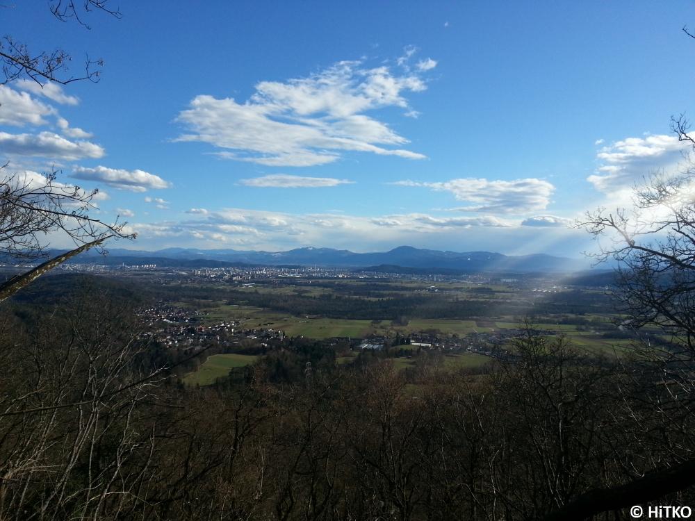 Sunbeam over Ljubljana
