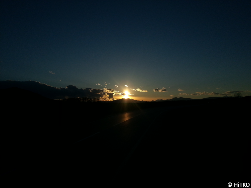A road into the sunset